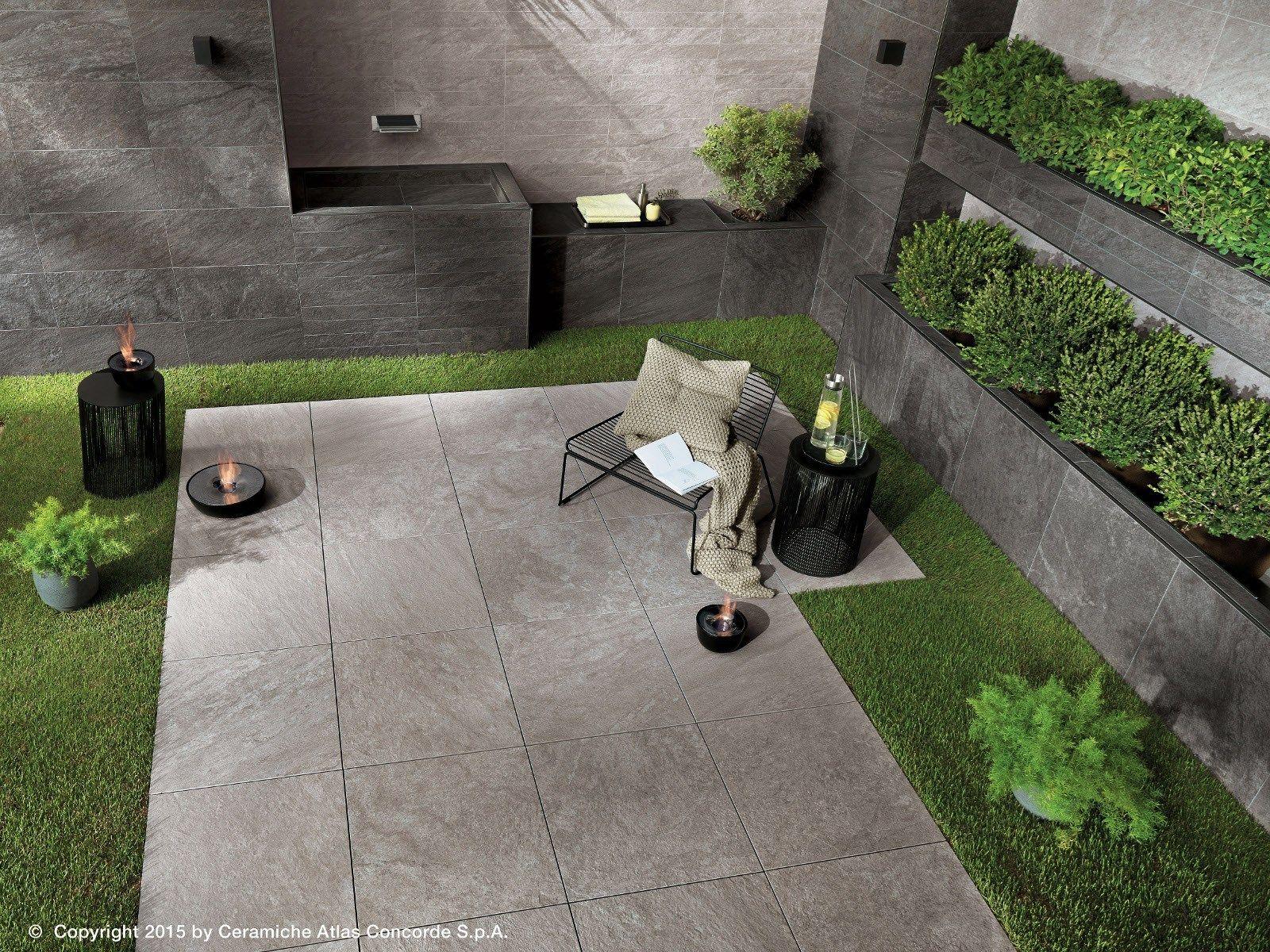Brave gres porcellanato effetto pietra per outdoor - Gres porcellanato effetto pietra per esterni ...
