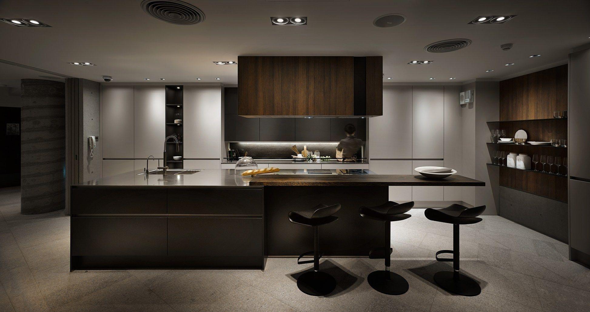 Einheit von küche und lounge