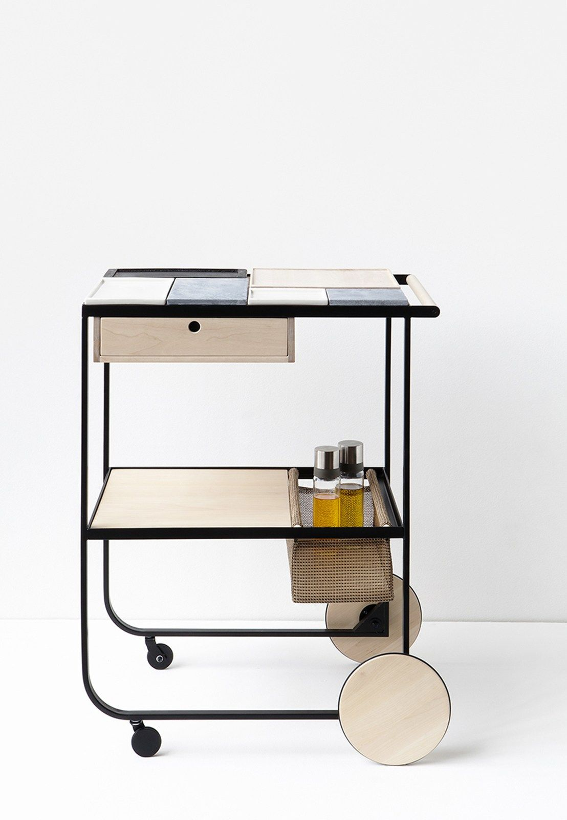 Modern scandinavian design in london for Kitchen trolley design