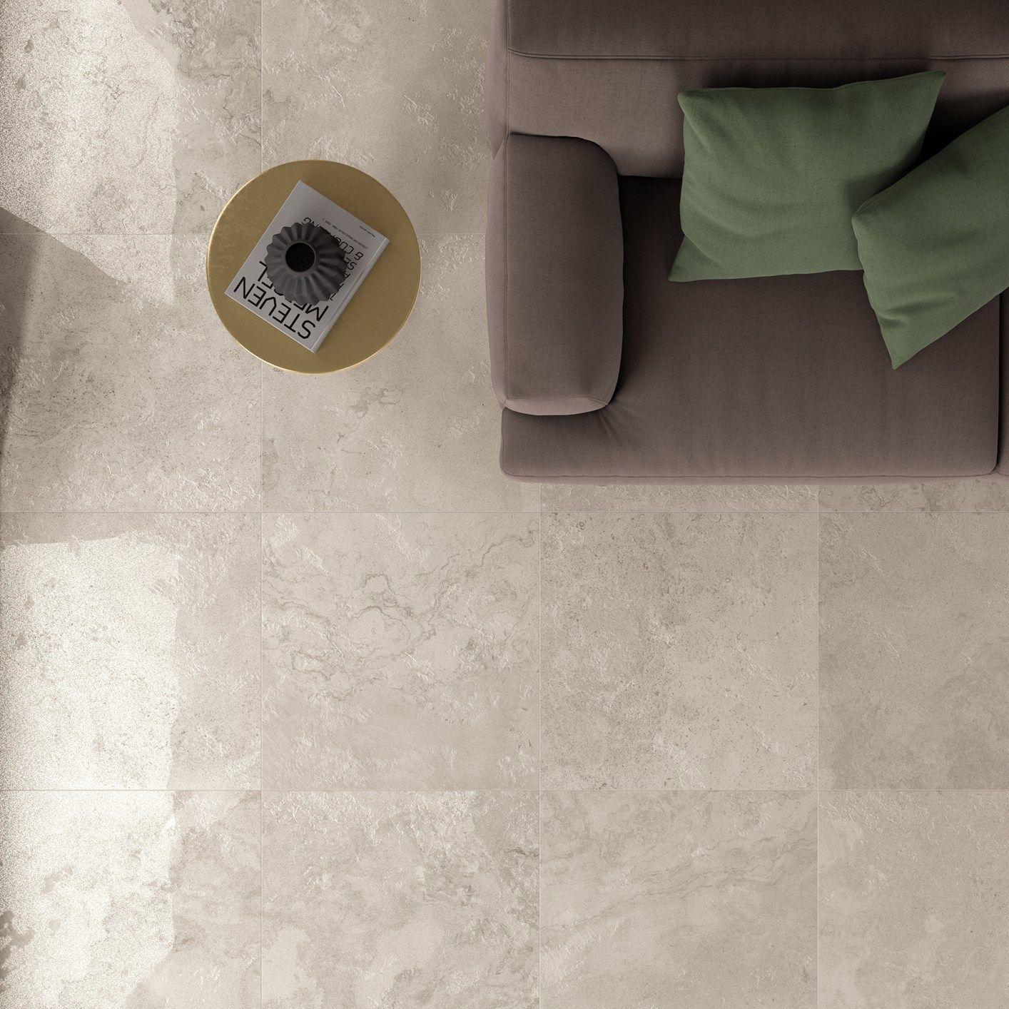 Grandi lastre ceramiche dal gusto rustic chic for Abk interno 09