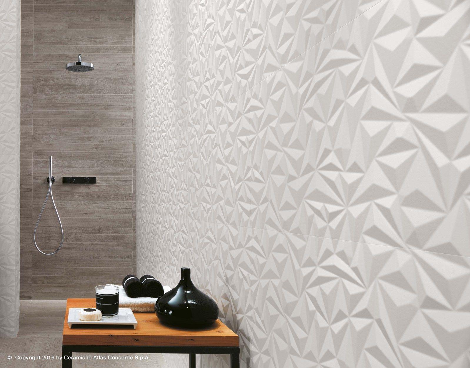Atlas concorde presents lifestyle lab at cersaie - Rivestimento bagno grigio ...