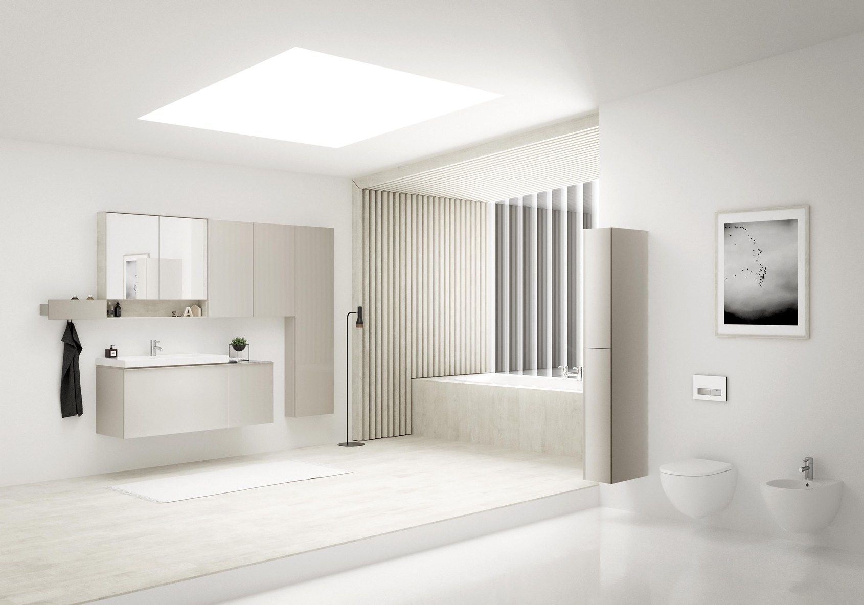 Geberit acanto encourages creativity in the bathroom Neue design bathroom mirror