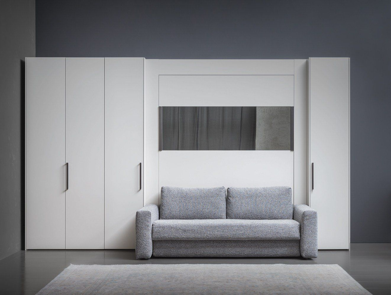 New flou collections for bedroom and living areas Schrankbett mit sofa
