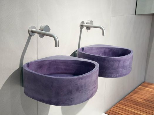 Elle3, the new synthetic cement wash basin by Moab 80