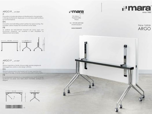 Mara presents the new ARGO and SAVIO tilting tables