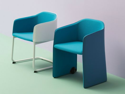 Flexible softness: Pedrali presents its upholstered seat collection