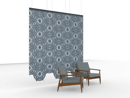 BuzziFalls: floating and decorative walls offer artistic style with acoustical substance