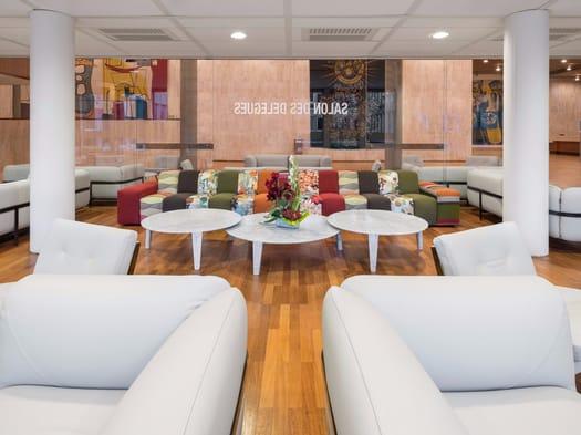 Roche Bobois decorates the Delegates Lounge at the UNESCO headquarters