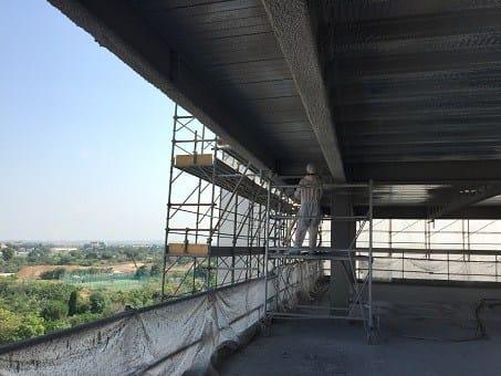 Monokote MK-6HY di Edilteco per il quartier generale Paribas BNL-BNP Roma Tiburtina