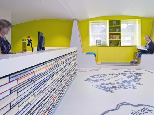 HI-MACS® proves practical and playful in a new library refurbishment at a private London prep school