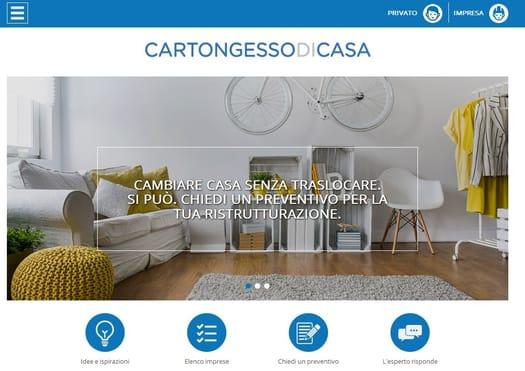 Gyproc presenta CARTONGESSODICASA.IT