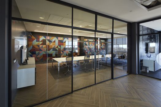 BAUX transforms a residential-inspired office space and kicks off client meetings