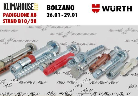 Würth partecipa a KLIMAHOUSE 2017 Bolzano