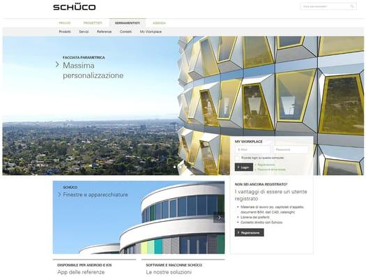 È online il nuovo sito web Schüco Italia