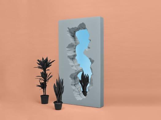 Broken Mirror, the first Gufram mirror