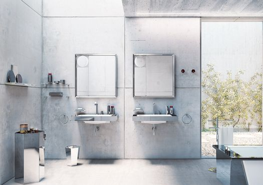 Mirage, 'a magical combination of light and shadow in the bathroom'
