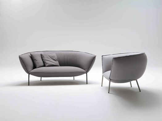 YOU sofa and armchair by Luca Nichetto