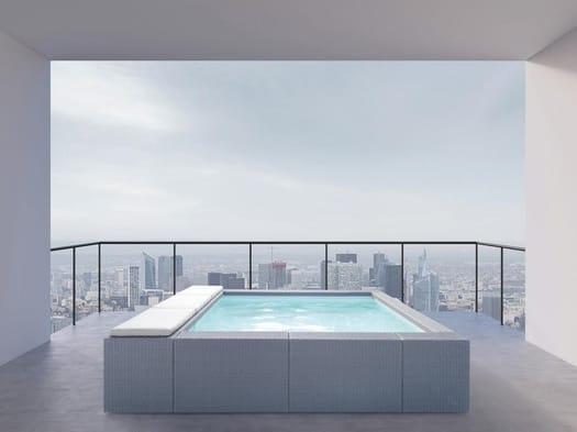 La piscina arriva in terrazza