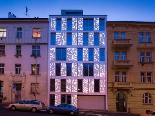 HI-MACS® Lights up the Poetic Façade of the Bieblova Apartments in Prague
