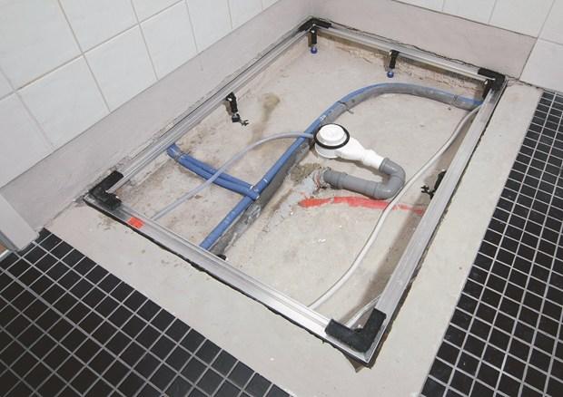 piatti doccia kaldewei: come installare un piatto doccia filo ... - Come Costruire Un Piatto Doccia Con Piastrelle