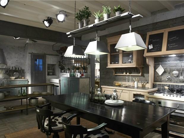 Il nuovo store brasiliano di dialma brown e marchi cucine - Cucine stile industrial chic ...