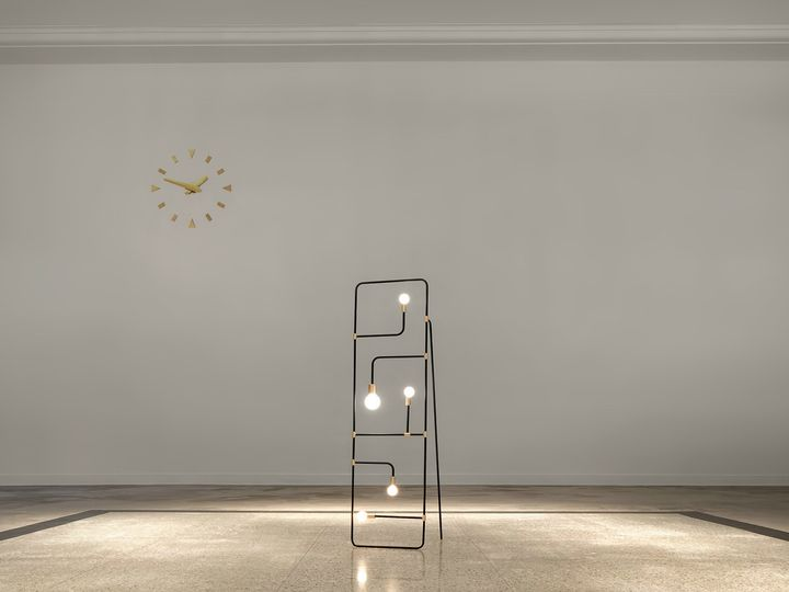 Light comes to life in a harmonious convergence of lines, points, voids and masses