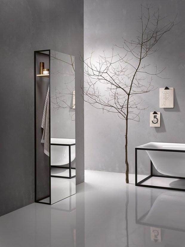 bathroom objects in a frame. Black Bedroom Furniture Sets. Home Design Ideas