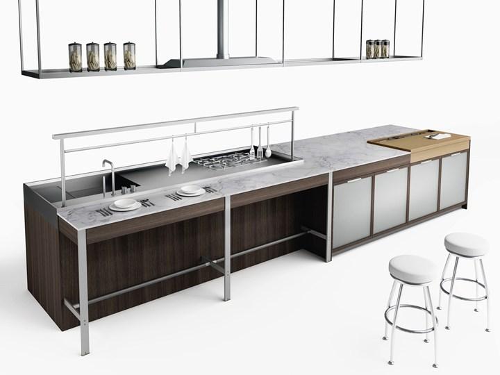 cucina si ispira ai grandi banchi da lavoro industriali - Banco Da Lavoro Cucina