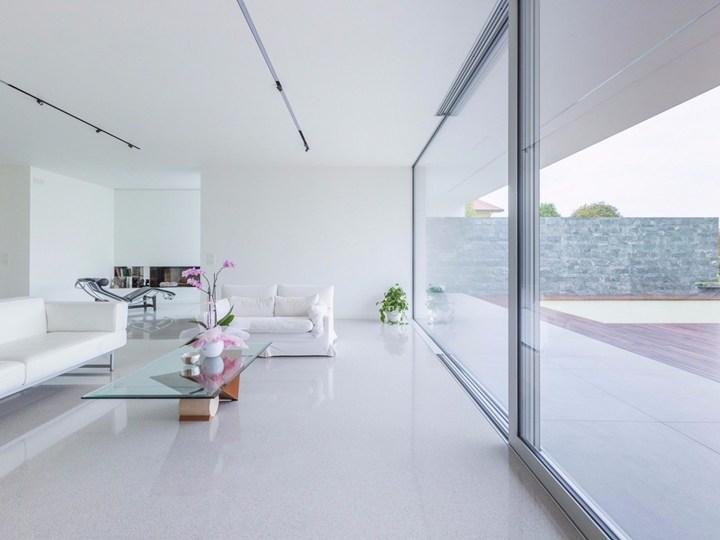 Pavimento alla veneziana per ambienti total white for Veneziana pavimento