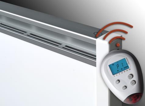 Riscaldamento elettrico intelligente di design e a basso for Scaldasalviette elettrico basso consumo