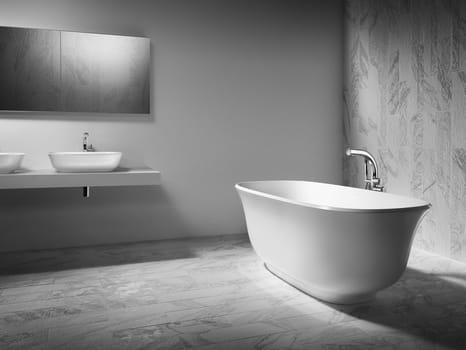 Victoria albert baths introduces the new amiata collection for Petite salle de bain baignoire ilot