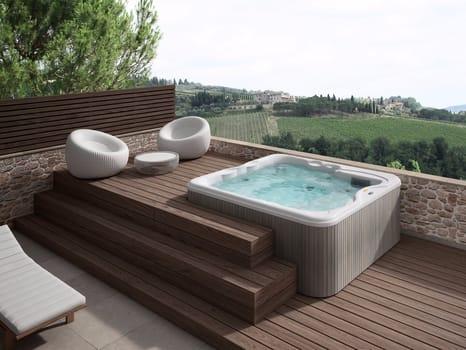 La nuova spa idromassaggio adatta a qualsiasi ambiente esterno