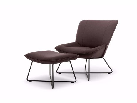 A chair with looks highly inviting and comfortable