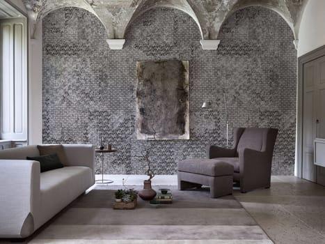 Decori murali ispirati dai tessuti materici