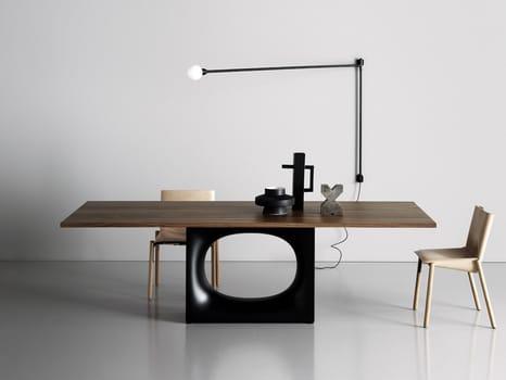 L'iconico tavolo Kristalia si trasforma in tavolino e consolle