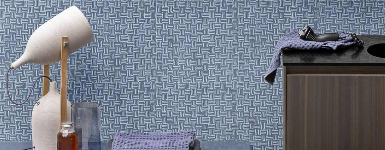Texture d'ispirazione tessile per rivestire le pareti del bagno