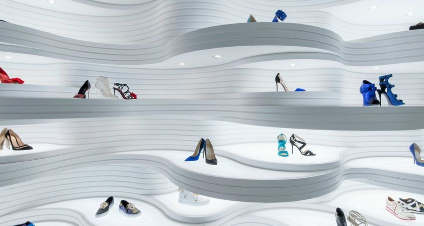 Shoebaloo, a Shoe Store with a New Dimension in HI-MACS® by MVSA Architects