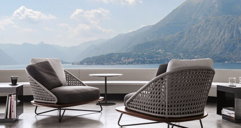Rivera by Minotti: retro elegance, typically Mediterranean vibe