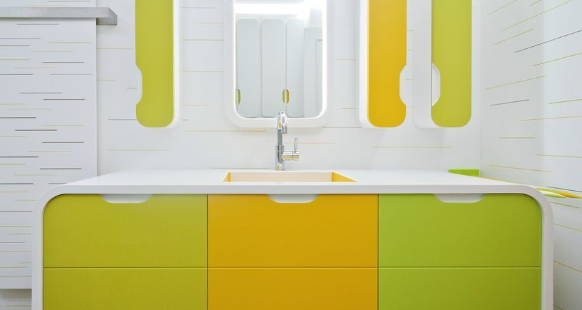 HI-MACS® brings a splash of colour to the bathroom