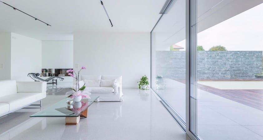 Pavimento alla veneziana per ambienti total white