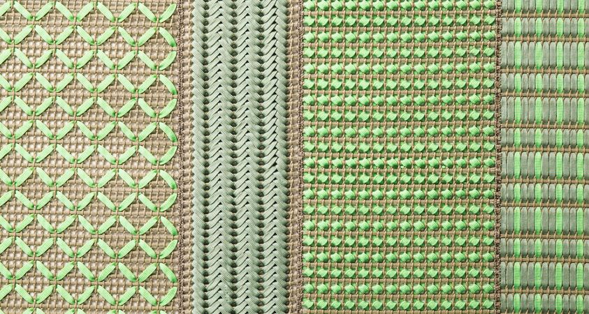 Rugs, mats and upholstery fabrics by Paola Lenti