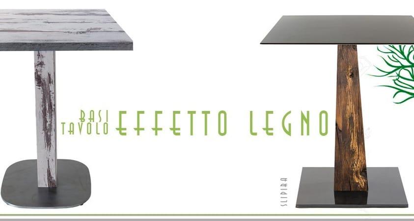 Table avec effet bois: nouvelle finitions de Vela Arredamenti
