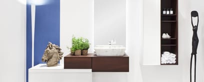 Three different interpretations of washbasin cabinet