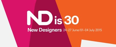 30th Edition of New Designers 2015. The exhibition for emerging design