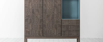 Hi-Deck: wood surface engraved with a geometric texture
