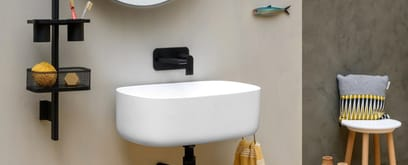A bathroom where everything is within reach