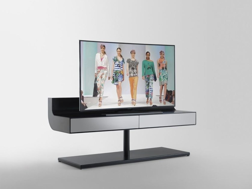 Glass and aluminium TV cabinet ÈLLE | TV cabinet - RES
