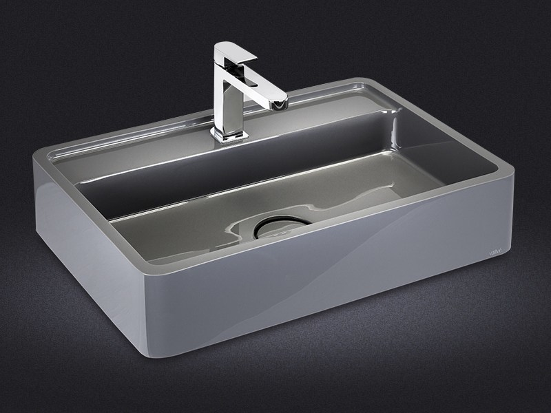 Rectangular resin washbasin ÉREA - Vallvé Bathroom Boutique