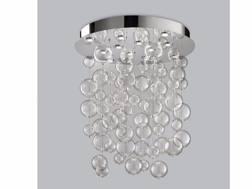 Blown glass ceiling lamp BOLERO Ø 100 - Metal Lux di Baccega R. & C.