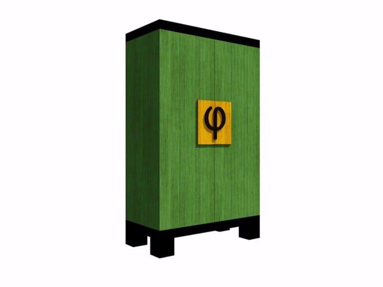 Wooden wardrobe Φ GOES EAST - Ateliers Phi
